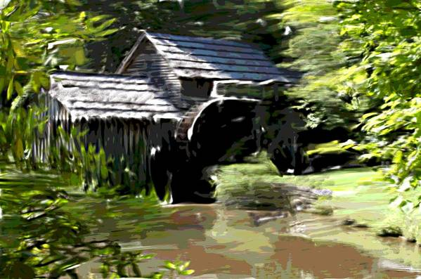 Lanscabe Art Print featuring the photograph Mabry Mill by Mark Stidham