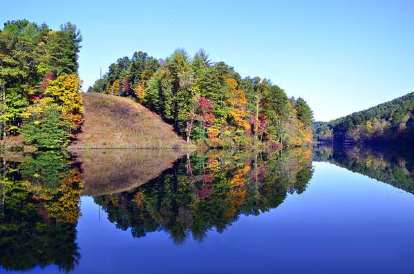 Landscape Art Print featuring the photograph Mirror Image by Susan Leggett