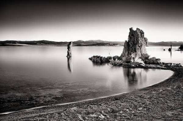 Mono Lake Art Print featuring the photograph Monochromatic Mono Lake Sunrise by Tanya Harrison