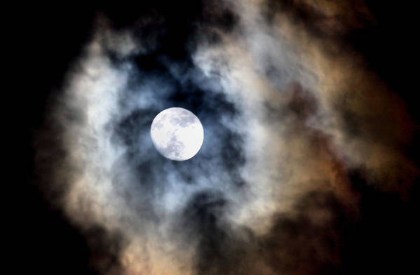 Moon Art Print featuring the photograph Moonshine by Karen Scovill