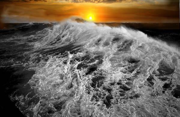 fantasy Art, Digital Art, Rock, Sea, Waves, Castle, Clouds ...