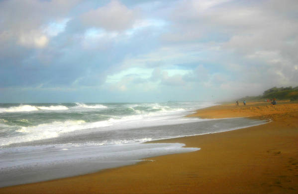 Beach Art Print featuring the photograph Painted Beach by Cindy Haggerty