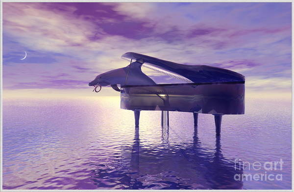 Music Art Print featuring the digital art Piano's Lesson by Harald Dastis