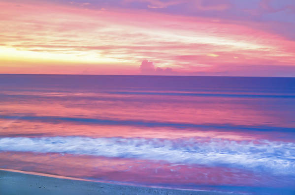 Sunrise Art Print featuring the photograph Pink Ocean Sunrise by Patrick M Lynch