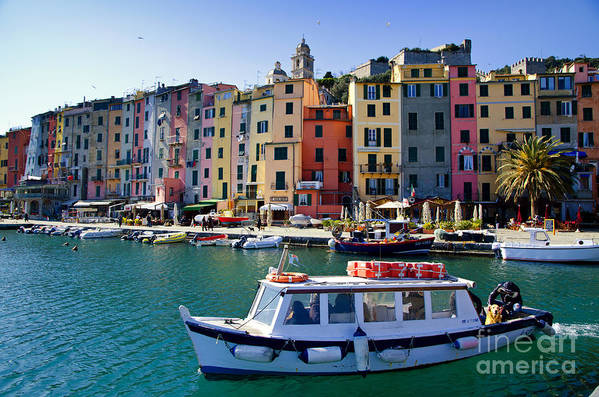 Portovenere Art Print featuring the photograph Porto Venere by Mats Silvan