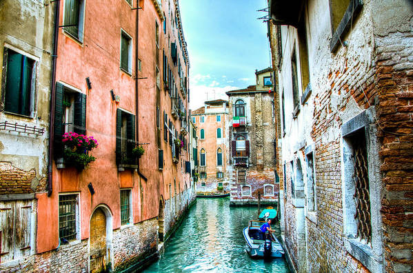 Venice Canal Art Print featuring the photograph Quiet Canal by Jon Berghoff