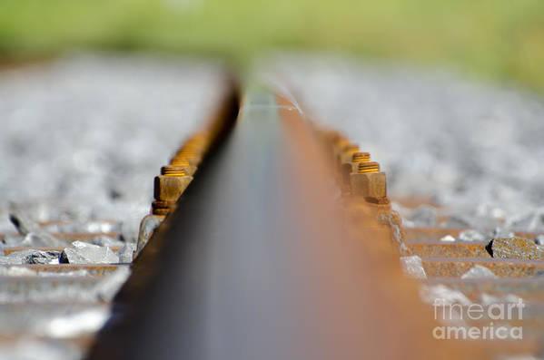 Railroad Tracks Art Print featuring the photograph Railroad Tracks by Mats Silvan