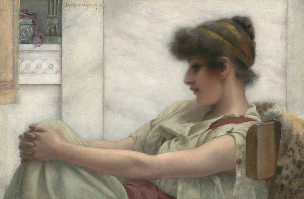 Reverie Art Print featuring the painting Reverie by John William Godward