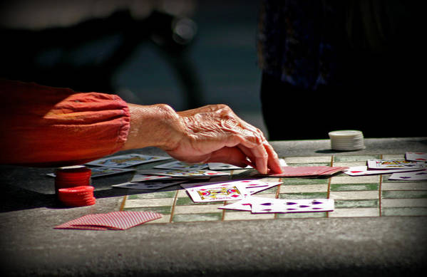 Poker Art Print featuring the photograph Risky Business by Malou Fickling