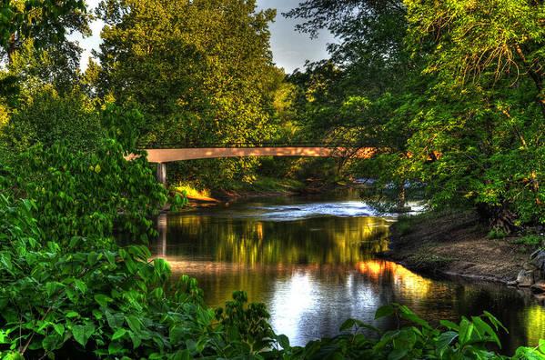Murphy River Walk Bridge Art Print featuring the photograph River Walk Bridge by Greg and Chrystal Mimbs
