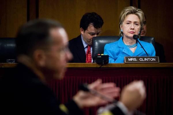 History Print featuring the photograph Senator Hillary Clinton A Member by Everett