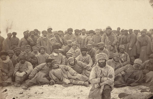 1880s Art Print featuring the photograph Siberia, A Group Of Hard-labor by Everett