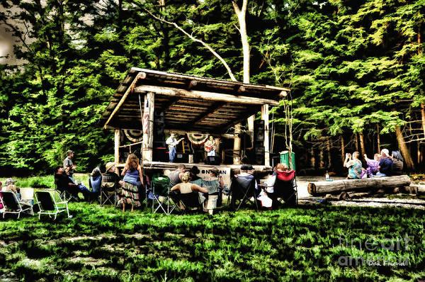 Silver Lake Art Print featuring the photograph Silver Lake One Man Jam Fest by Dan Friend