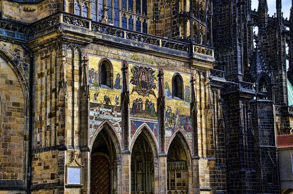 St Vitus Cathedral Art Print featuring the photograph St Vitus Cathedral Entrance by Jon Berghoff