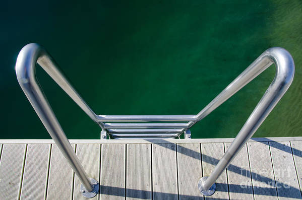 Stairs Art Print featuring the photograph Stairs To The Water by Mats Silvan