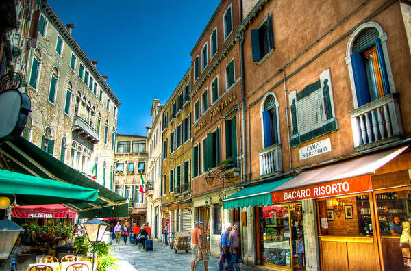 Venice Art Print featuring the photograph Streets Of Venice by Jon Berghoff
