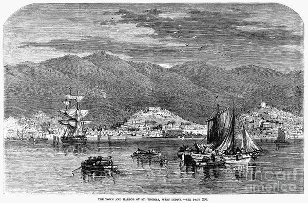 1868 Art Print featuring the photograph St.thomas, 1868 by Granger