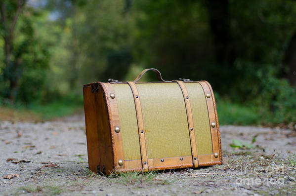 Suitcase Art Print featuring the photograph Suitcase by Mats Silvan