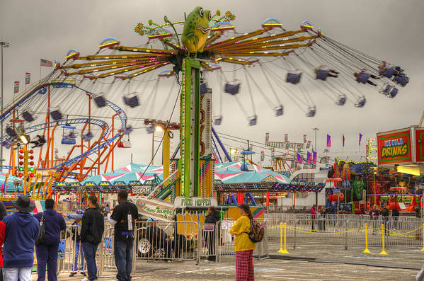 Fair Art Print featuring the photograph Swinging by Ricky Barnard