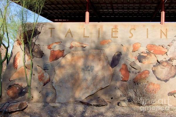 Arizona Art Print featuring the photograph Taliesin Entry - Arizona by Mary Deal
