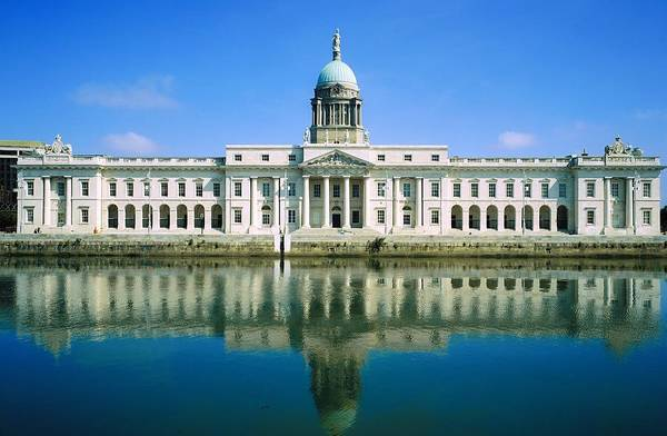 Administration Art Print featuring the photograph The Custom House, River Liffey, Dublin by The Irish Image Collection