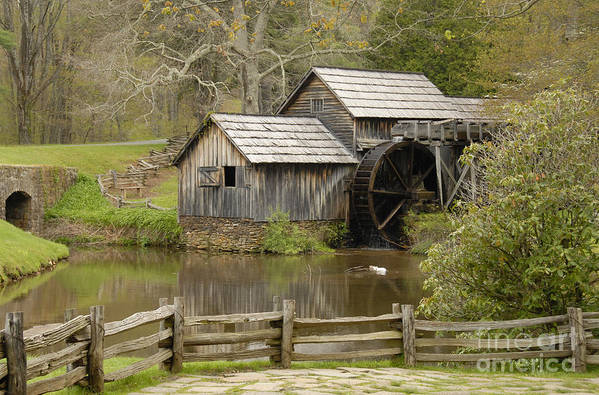 History Art Print featuring the photograph The Old Grist Mill by Cindy Manero
