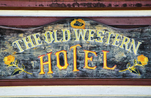 Hotel Art Print featuring the photograph The Old Western Hotel by Diego Re