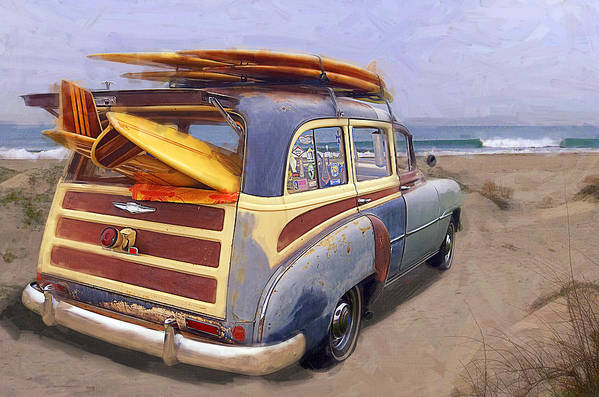 Woodie Art Print featuring the photograph The Secret Spot by Ron Regalado