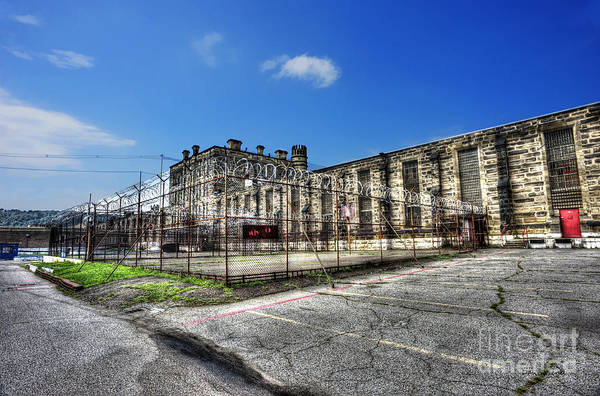 West Virginia State Penitentiary Art Print featuring the photograph The West Virginia State Penitentiary Courtyard Outside by Dan Friend