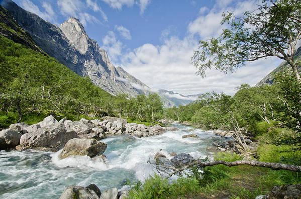 Horizontal Art Print featuring the photograph Trollstigen River by James Kennedy