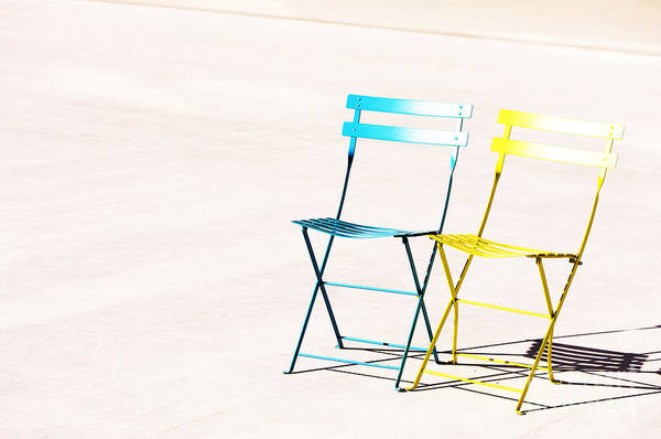 Chairs Art Print featuring the photograph Waiting Together by Anca Jugarean