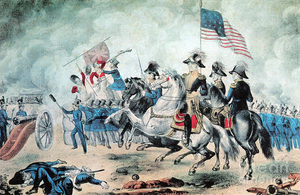 Andrew Jackson Print featuring the photograph War Of 1812 Battle Of New Orleans 1815 by Photo Researchers