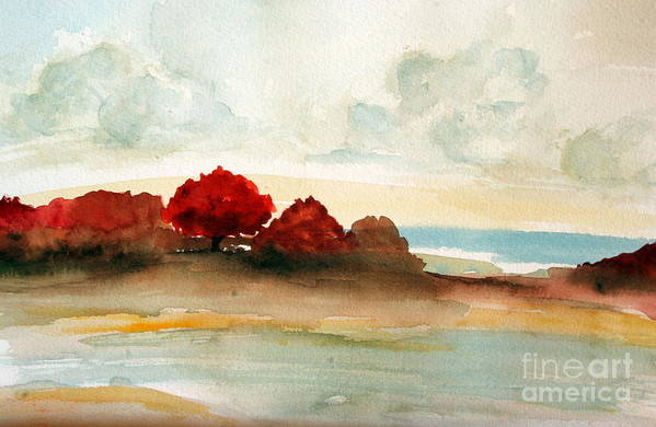 Paintings Print featuring the painting Watercolor Bay by Julie Lueders