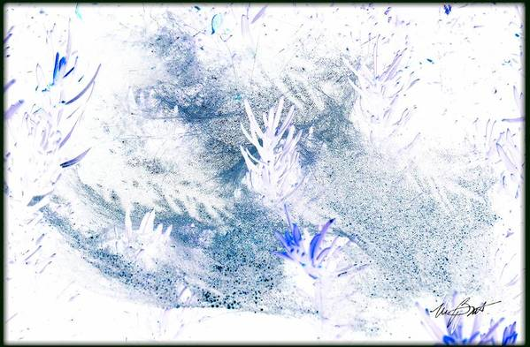 Web Art Print featuring the digital art Web And Bush Abstract 2 by Maxine Bochnia