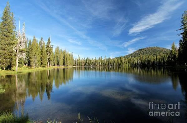 Summit Lake Art Print featuring the photograph Wispy Blues by Adam Jewell
