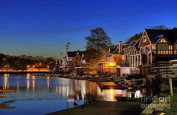 Philadelphia Art Print featuring the photograph Boathouse Row by John Greim