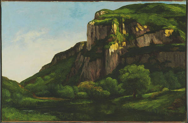 Gustave Courbet Art Print featuring the painting Rocks At Mouthier by Gustave Courbet