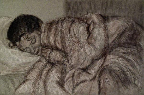 Drawing Art Print featuring the drawing Sweet Dreams by Caroline Urbania Naeem