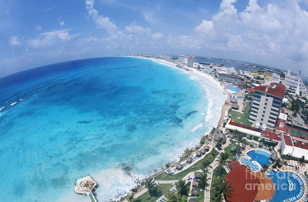 Aerial Art Print featuring the photograph Aerial Of Cancun by Bill Bachmann - Printscapes