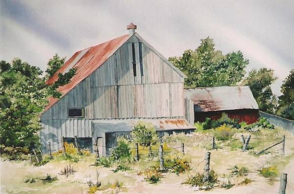 Barn Art Print featuring the painting August 2nd by Jackie Mueller-Jones