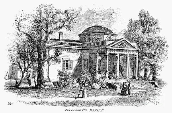 19th Century Art Print featuring the photograph Jefferson: Monticello by Granger