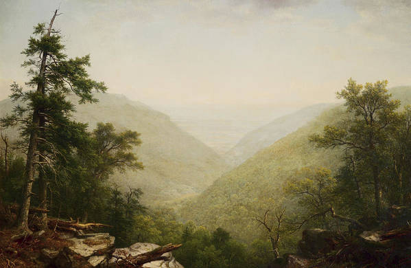 Kaaterskill Clove By Asher Brown Durand Art Print featuring the painting Kaaterskill Clove by Asher Brown Durand
