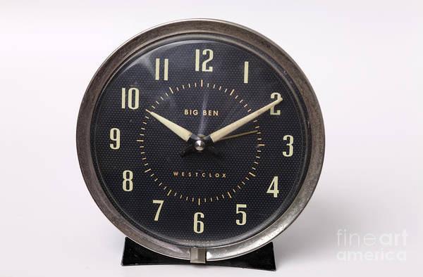 Radium Art Print featuring the photograph Radium Dial On Clock by Ted Kinsman
