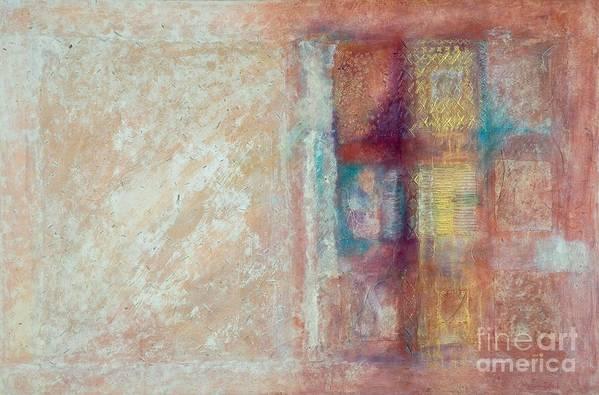 Mixed-media Art Print featuring the painting Spirit Matter Cosmos by Kerryn Madsen-Pietsch