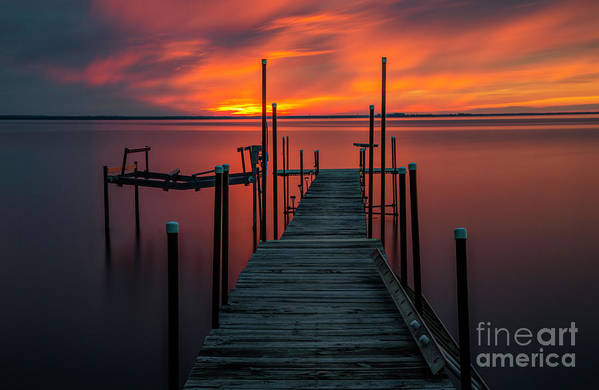 Sunset Art Print featuring the photograph Sunset On The Bay by Randy Kostichka