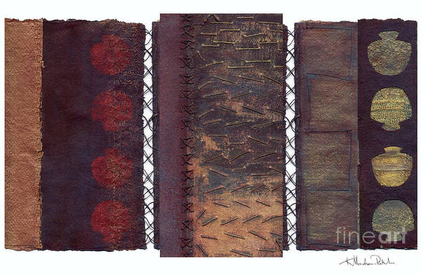 3panel Art Print featuring the painting Three Panel Transitional Page Format by Kerryn Madsen- Pietsch