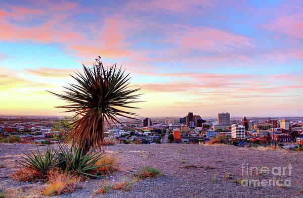 El Paso Art Print featuring the photograph El Paso, Texas by Denis Tangney Jr