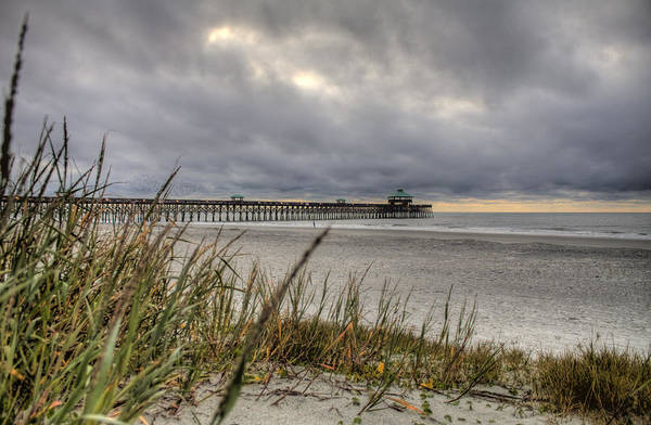 Folly Beach Art Print featuring the photograph Folly Beach Pier by Dustin K Ryan