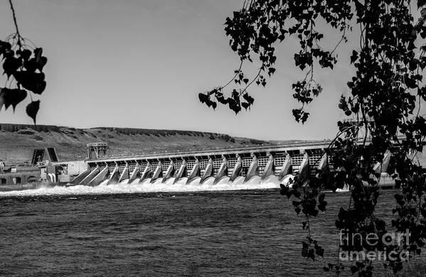 Dam Art Print featuring the photograph Mcnary Dam by Robert Bales