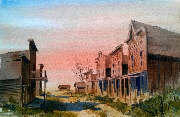 Llandscape Art Print featuring the painting Ghost Town by Kevin Heaney